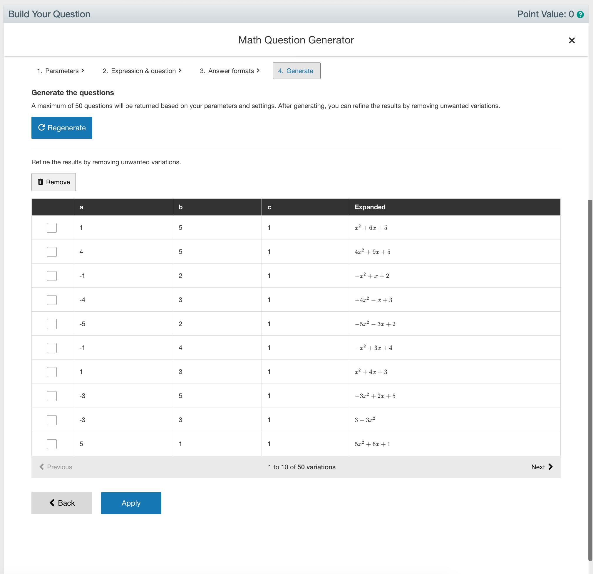 Math Question Generator Step 4