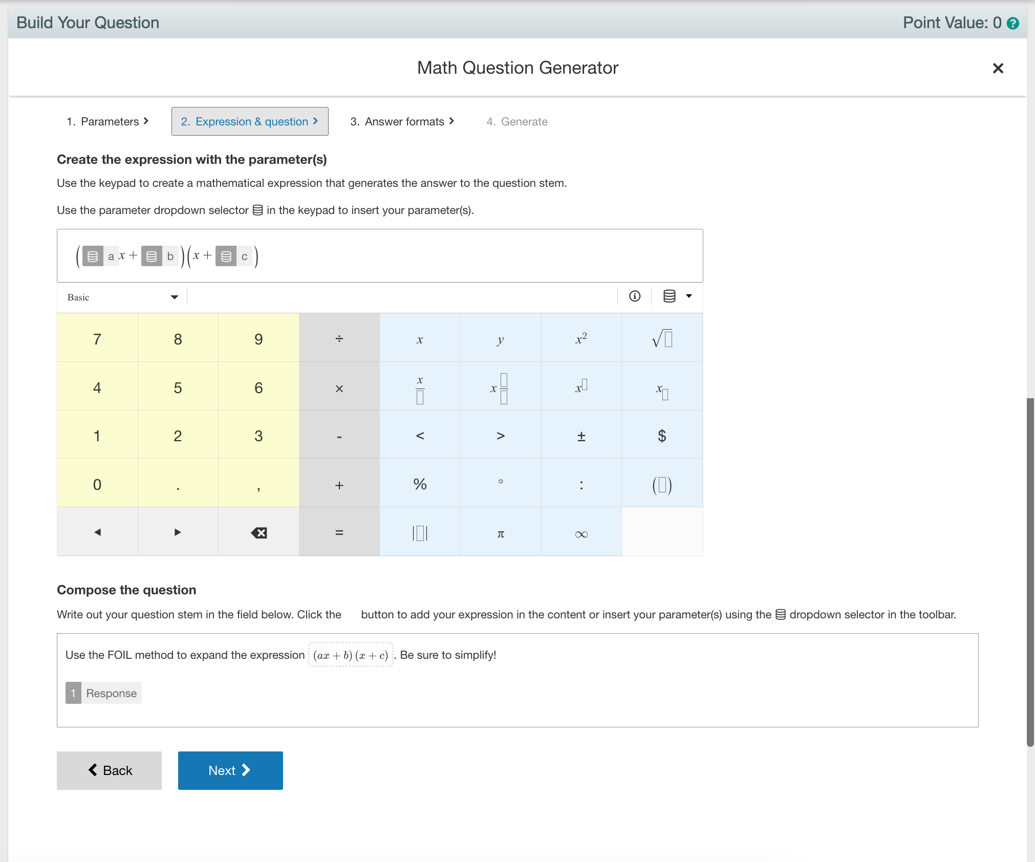 Math Question Generator Step 2