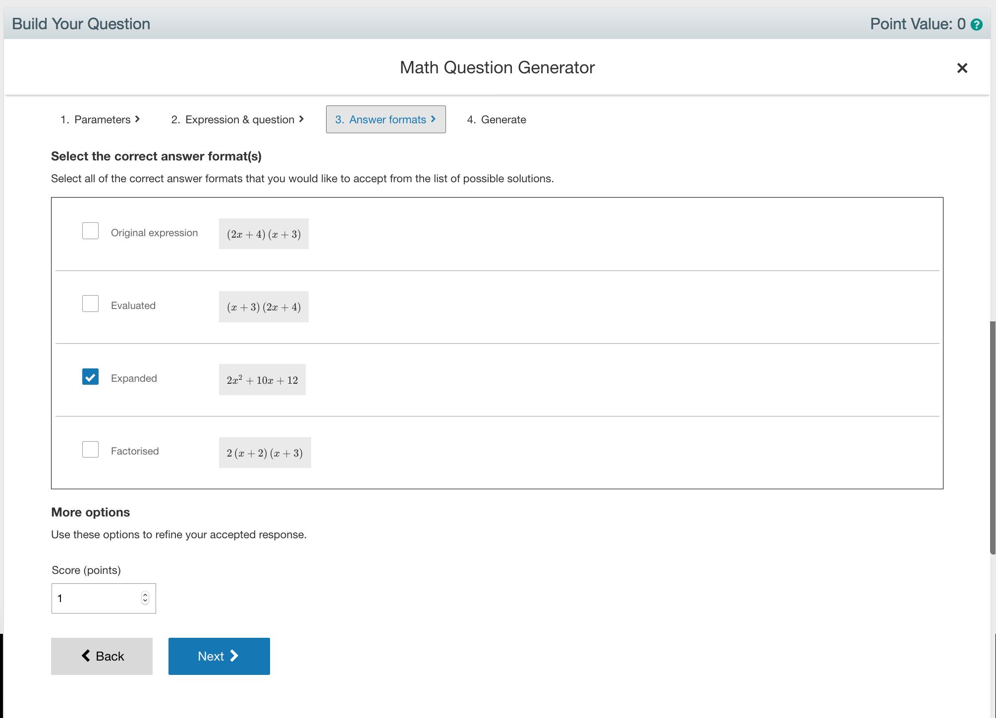 Math Question Generator Step 3
